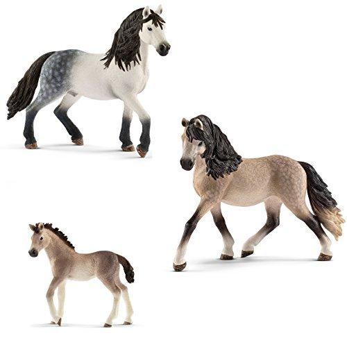 Schleich Horse Club - Andalusier-Familie - Hengst 13821 Stute 13793 und Fohlen 13822