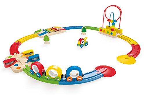 Hape - E3815 - Circuit de Train en Bois - Mon Premier - Coffret - Coloré et Sonore