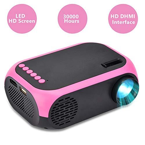 Bewinner Tragbarer Projektor, LED-Projektor Video-Beamer Mini Tragbarer Handprojektor HD 1080P Heimkino-Projektor kompatibel mit USB/SD/HDMI/AV für Heimbüro-Filmspiele(EU Stecker)