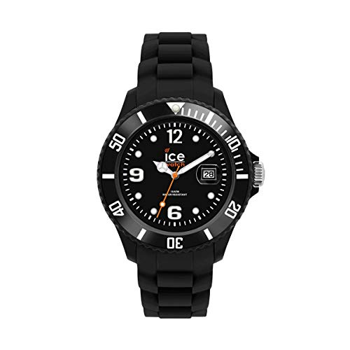 Ice-Watch - ICE forever Black - Schwarze Herren/Unisexuhr mit Silikonarmband - 000133 (Medium)