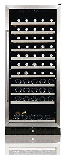 Ip Industrie - Cantina refrigerata con porta in vetro e monotemperatura regolabile per 110 bottiglie inox