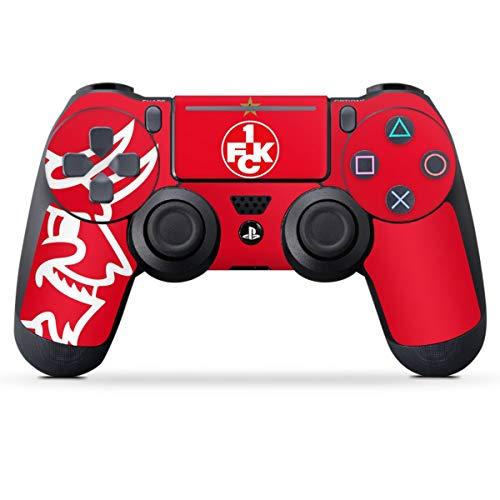 DeinDesign Skin kompatibel mit Sony Playstation 4 PS4 Pro Controller Folie Sticker 1. FCK 1. FC Kaiserslautern Teufel