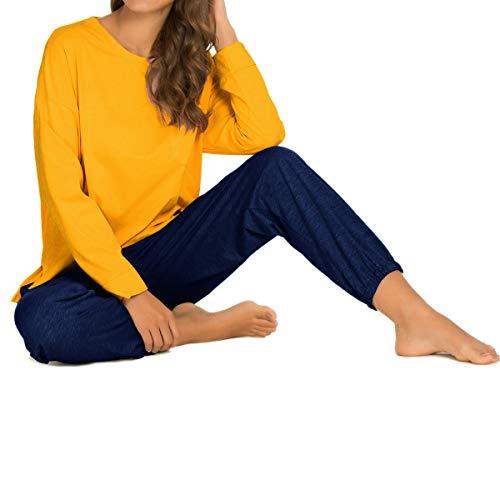 GOSO Conjunto de Pijamas de Mujer,Pijamas de Mujer Pjs Top Ropa de Dormir Lady Estilo Jogging Nightwear Soft Lounge Sets