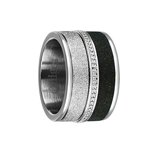 Quiges Stapelring Kombinationsring Basisring mit 3 Füllringe Bandring Edelstahl Set 18mm (56)
