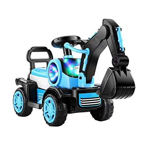 FXQIN Excavadora eléctrica para niños Tractor Pedal Excavadora Camión Pala Delantera para...