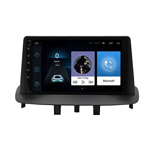 Amimilili Radio Coche con 9 Pulgadas Pantalla Táctil para Renault Megane 3 2008-2014 GPS Radio estéreo con Bluetooth/GPS/FM/USB, Apoyo De Control del Volante, Enlace De Espejo,8 Cores 4g+WiFi:2+32g