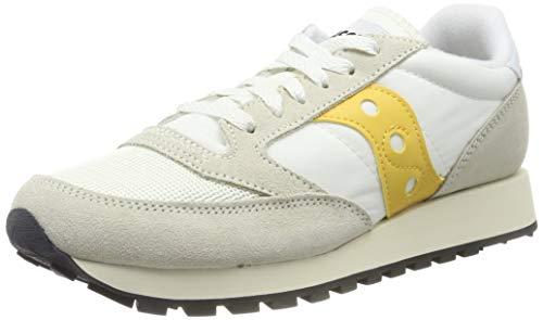 Saucony Jazz Original Vintage, Zapatillas Mujer, Multicolor (Cement/Yellow 40), 38 EU
