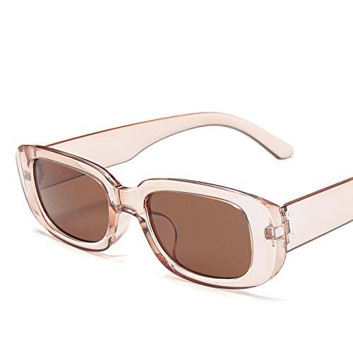 ShSnnwrl Gafas De Moda Gafas De Sol Gafas De Sol Cuadradas Retro Clásicas para Mujer Gafas De Sol Rectangulares Pequeñas De Viaje Vintage para Mujer C12C
