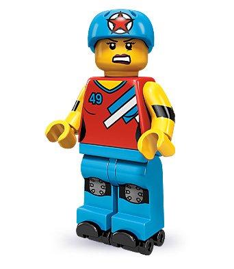 LEGO 71000 - Minifigur Rollschuh-Fahrerin aus Sammelfiguren-Serie 9