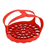 Phnirva Silicone Steamer Vegetable Steamer Basket Stainless Steel Collapsible Steamer Pressure Cooker Sling Egg Rack Silicone Sling for Pressure Multi-cookers