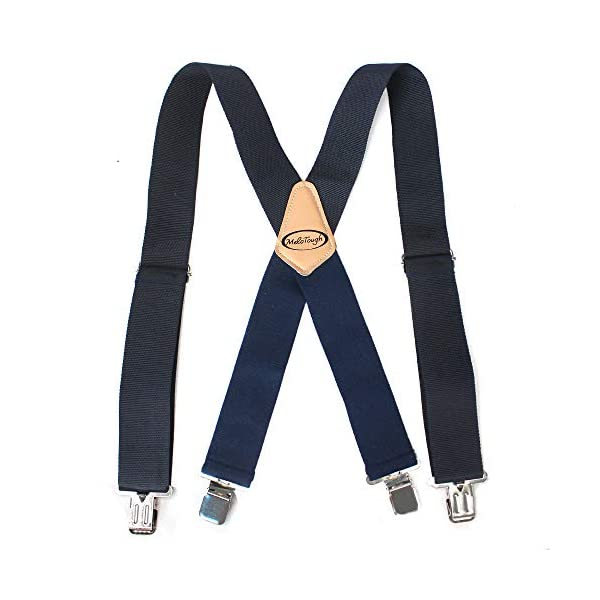 Mens Suspenders 2″ Wide Adjustable and Elastic Braces X Shape with Very Strong Clips – Heavy Duty