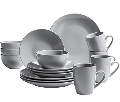 MÄSER 931914 Pastell Collection - Servizio da tavola moderno per 4 persone, 16 pezzi, in ceramica, gres