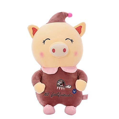 NOLOGO Clown Schwein unten Baumwolle Puppe Gehirn Spiel (Color : Purple, Size : 40cm)