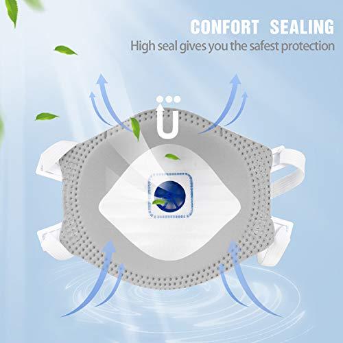 5 PCS ORPHILA Maske FFP3 mit Luftventil Komfort Dichtung Hälfte filtern Maske EN149:2001+A1:2009 Atemschutzmaske - 5