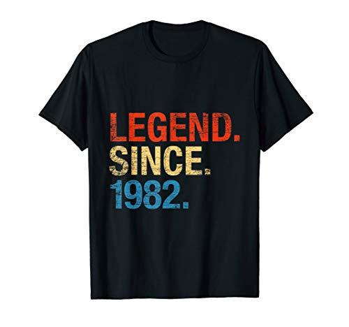 Legend Since 1982 38. Geburtstag Geschenk Legende Seit 1982 T-Shirt