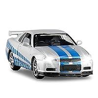 ダイキャストモデルカー 1:32に適用するR34-GTR合金ダイキャストモデルカーサウンドライトスケールカーモデルおもちゃの車コレクションギフト装飾装飾品 (Color : 3)