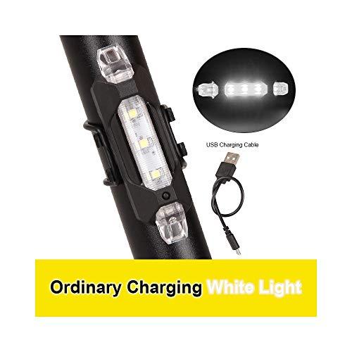 Tragbare Fahrradleuchte Wiederaufladbare LED-Rückleuchte USB-Heckleuchte Sicherheitswarnung Fahrradleuchte Flash Frontleuchte