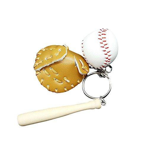 Skyeye 1 Stück Baseball Schlüsselanhänger Tasche Autoschlüssel Anhänger Schlüsselring Schlüssel Anhänger Keychain (Khaki)