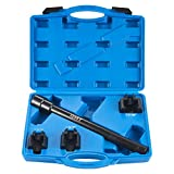 Orion Motor Tech Inner Tie Rod Tool Kit in SAE Sizes, Inner Tie Rod Removal and Installation Mechanics Tool Set with 1-3/16' 1-5/16' 1-7/16' Crowfoot Adapters