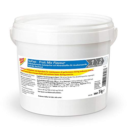 Sportdrink Pulver von Dextro Energy | 3000g Hypotonisches Getränke Pulver Fruit Mix | Iso Fast Pulver | Isotonische Getränke Alternative