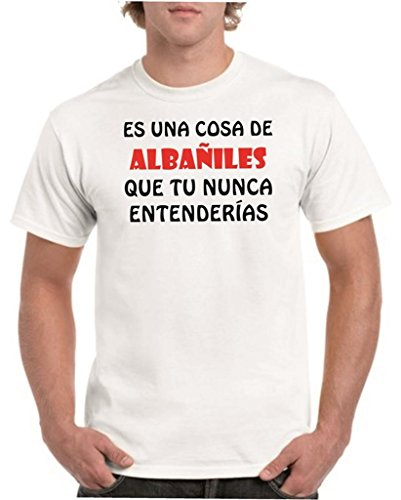 Camisetas divertidas Child Cosa de albañiles Que tu Nunca entenderias - para Hombre Camisetas Talla XXL Color Blanco