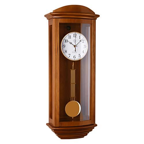 R-2220-11 Orologio a pendolo in legno da parete con movimento al quarzo radiocontrollato suoneria wenstminster