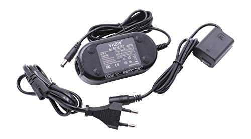 vhbw Kamera-Netzteil Netzkabel passend für Sony Alpha 3000, 5000, 5100, 6000, NEX-6, NEX-F3 Kamera, Digitalkamera, DSLR, 2m