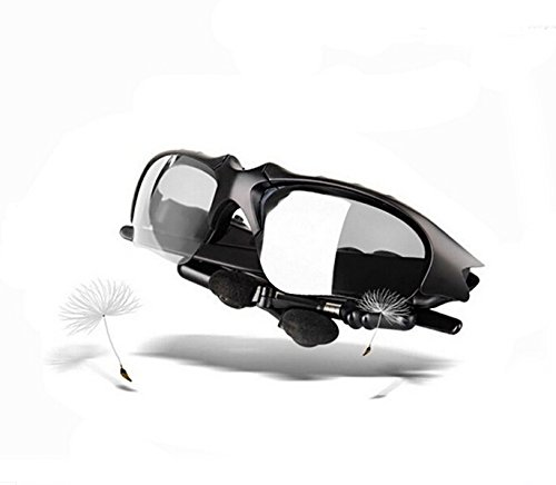 Bluetooth 4.1 Sport Sunglasses Headset Stereo Music Headphone Wireless Handfree Transparent