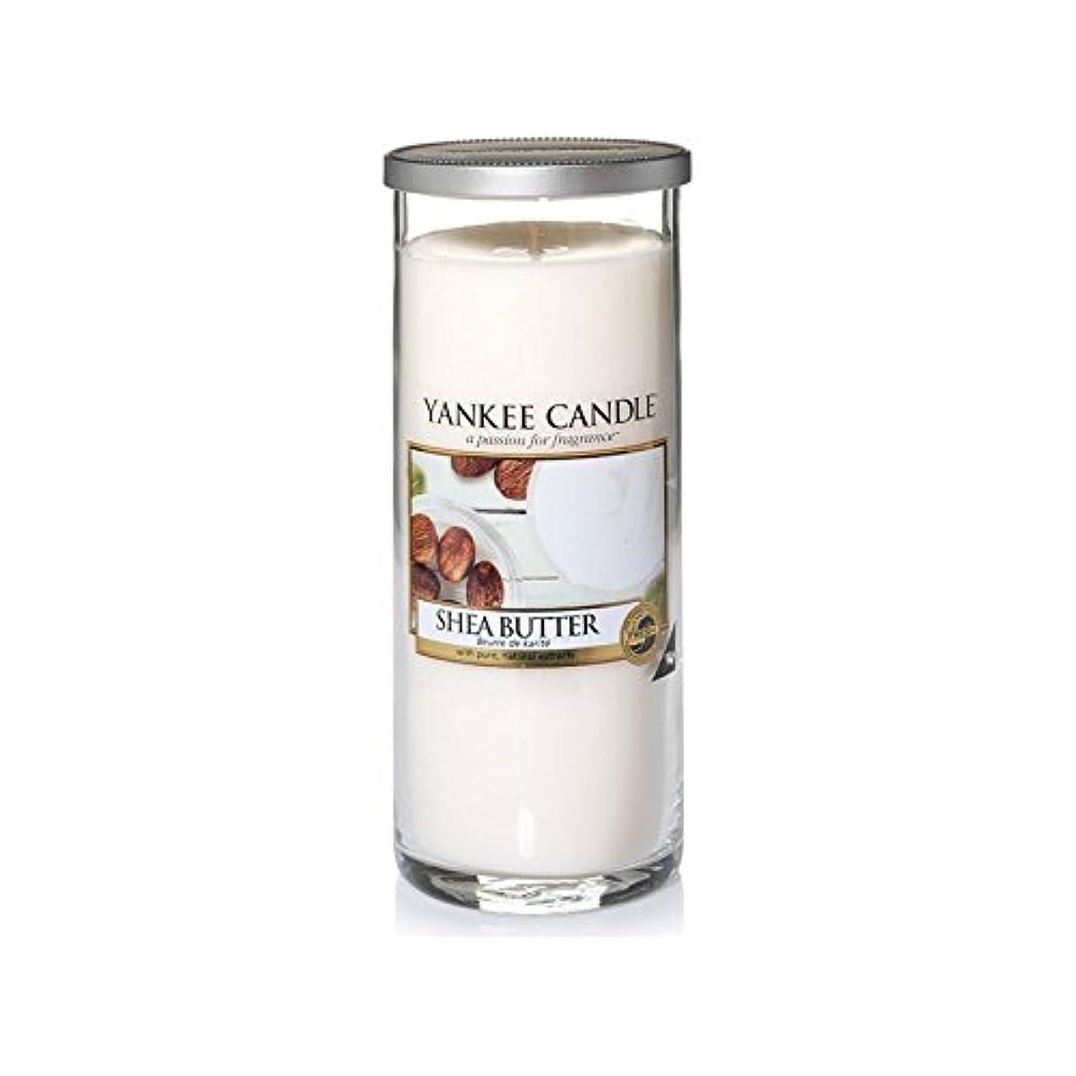 素晴らしさ接続詞保険Yankee Candles Large Pillar Candle - Shea Butter (Pack of 2) - ヤンキーキャンドル大きな柱キャンドル - シアバター (x2) [並行輸入品]