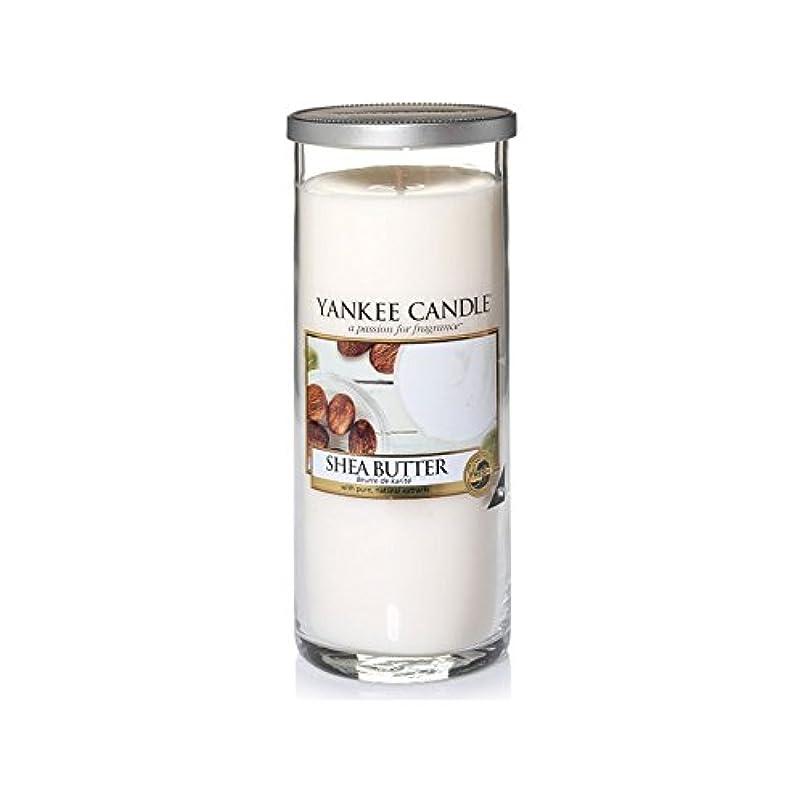 補充心からトロピカルYankee Candles Large Pillar Candle - Shea Butter (Pack of 6) - ヤンキーキャンドル大きな柱キャンドル - シアバター (x6) [並行輸入品]