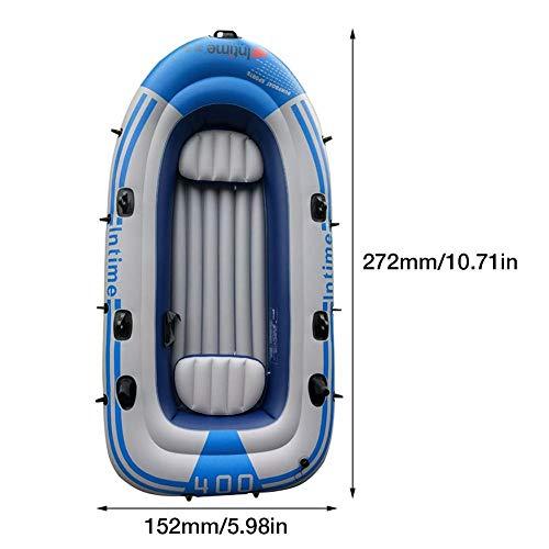 N/J Schlauchboot, aufblasbare Kajaks, Kajakboote, 2/3/4 Person Schlauchboot mit Paddel Luftpumpe Schlauchboote für Erwachsene zum Driften Angeln Sprengen Boot im Freien Drifting Fishing Reisepool