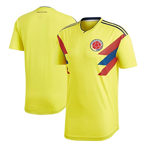 Kitbag Colombia Home Men's Soccer Short Sleeve Jersey T-Shirt World Cup Adult Sizes ✓ Best Gift for Soccer Fans (S, Home)