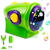 Toysery Automatic Bubble Machine for Kids - Bike Accessories for Kids - Durable Outdoor Bubble Blower Machine - Thousands of Big Bubbles with Bubble Machine Solution