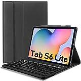 N/K Funda para Teclado Galaxy Tab S6 Lite 10.4 2020 (diseño del Reino Unido) Funda Protectora de Cuero Tipo Folio con Teclado inalámbrico Desmontable para Samsung (SM-P610 / P615,2020), Negro