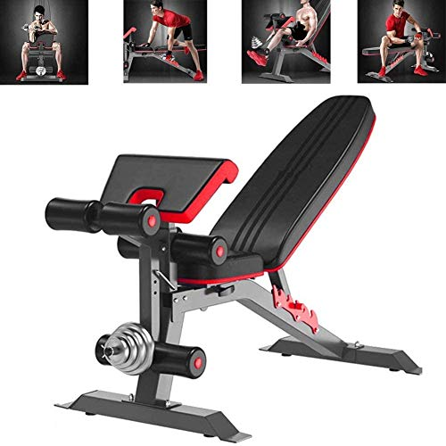 Utility Weight Bench - Adjustable Weight Benches for Full Body Workout, Foldable Flat/Incline/Decline FID Bench Press for Home Gym