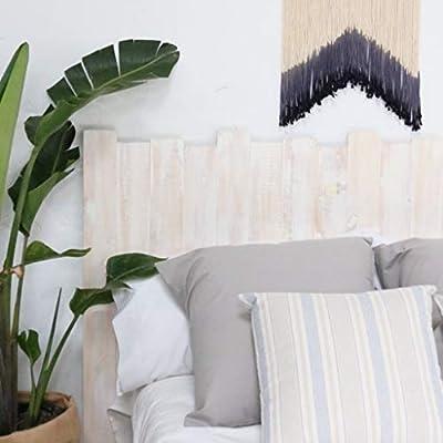 🌳CABECERO HECHO A MANO DE MADERA NOGAL: elaborado por nuestros artesanos a base de listones dispuestos verticalmente de madera maciza natural. ✨MEDIDAS: 190x100cm. Escoge entre las diferentes opciones de tamaño y tonalidad que ofrecemos la que más te...