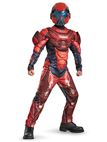 Red Spartan Classic Muscle Halo Microsoft Costume