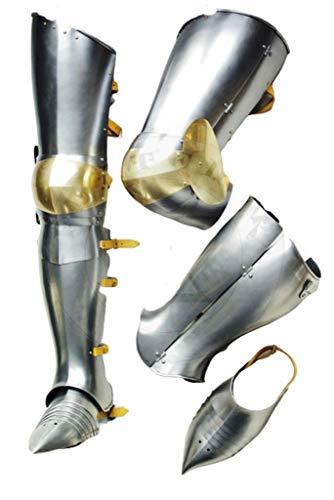 Halloween Warrior Medieval Leg Guard Armor Steel Graves Medieval Costume