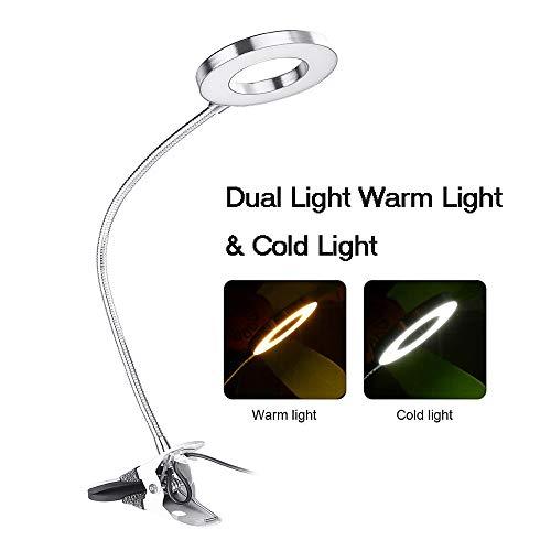 LED-clip tafellamp, dimmen tafel permanente tatoeage schoonheid licht wenkbrauw manicure lamp USB opladen 's nachts het lezen van nagel beauty make-up