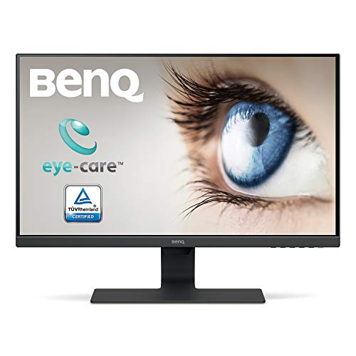 BenQ 21.5-inch LED Backlit Computer Monitor, Full HD, Borderless, IPS Monitor, Brightness Intelligence Technology, Adaptive Eye Care Technology, Dual HDMI and in-Built Speakers - GW2283 (Black)