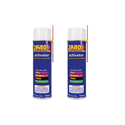 FastCap 2P-10 Professional Adhesive Activator for FastCap 2P-10 Glue, 2-Pack