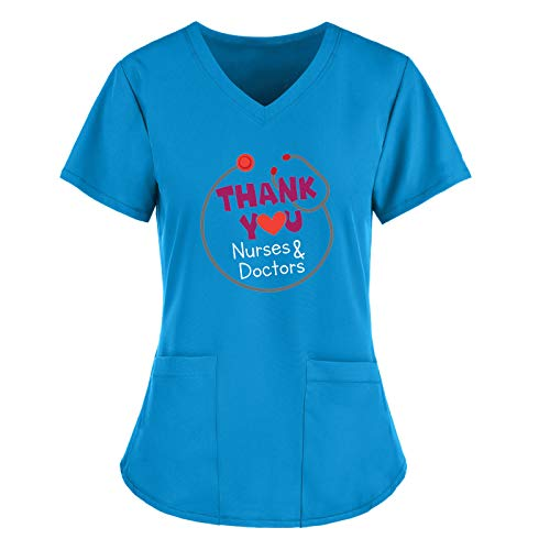 Camisa profesional para mujer, con cuello en V, túnica de bolsillo, blusa...