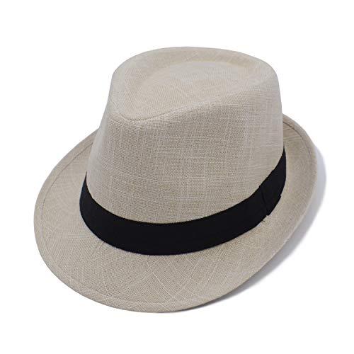 JEEDA Panama Fedora Trilby Derby Hut Mütze für Herren Damen Filzhut Hat for Men Women JS