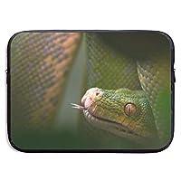 ヘビ 爬虫類 舌 パソコンバッグ ラップトップ収納カバン インナーバッグ PCケース ノートパソコンケース 360°保護ケース 13インチ 15インチ 衝撃吸収