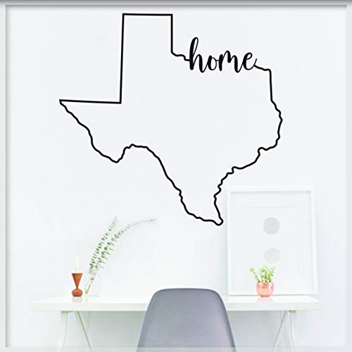 Karte Wandtattoo State Room Decor State Form Aufkleber State Form Aufkleber Texas Karte Texas Map Wandtattoo