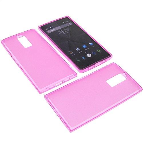 foto-kontor Tasche für Doogee F5 Gummi TPU Schutz Handytasche pink