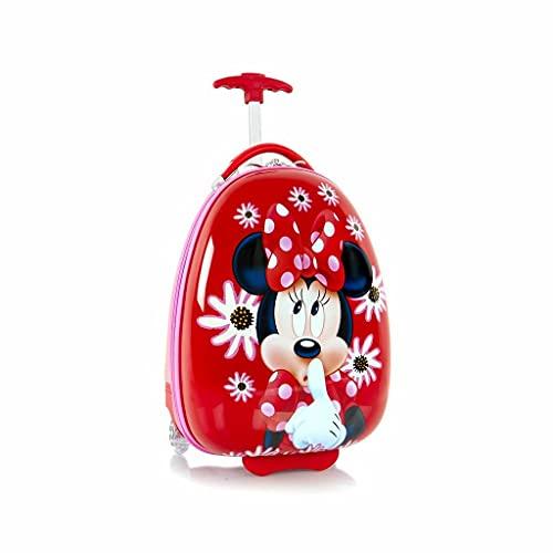 Disney Minnie Mouse Equipaje para niños de 18 pulgadas duro cara huevo en forma de maleta para niños