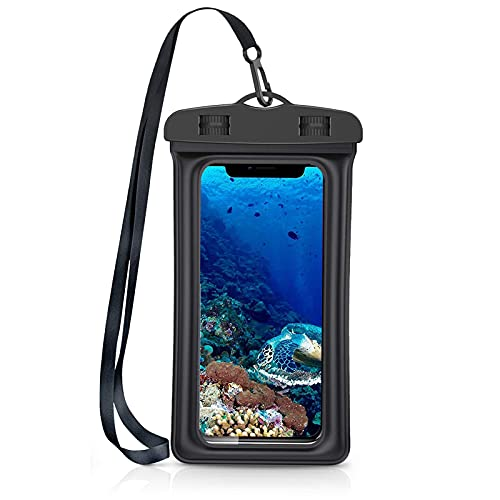 Funda Impermeable Móvi-2 Unidades-IPX8 Doble Sellado- Funda Impermeable Universal,Funda Agua Movil, para iPhone 11 Pro XS MAX X 8 Plus,Galaxy S10+ S9 S8 ,Huawei y más. (1X)