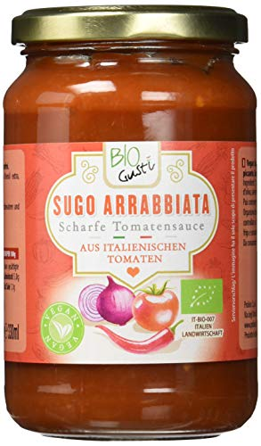 Biogustí Sugo Arrabbiata - scharfe Tomatensauce, 6er Pack (6 x 340 g)