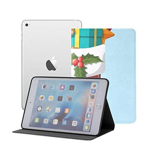 Ipad Mini 1 2 3 Case,slim Lightweight Stand Smart Back Case For Ipad Mini, Mini 2, Mini 3 With Auto Sleep/wake,Christmas Sock Stocking
